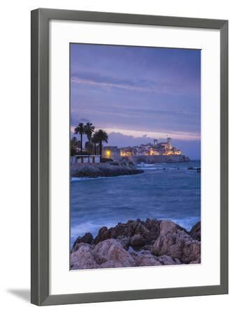 Old Town and Sea Wall in Antibes, Alpes-Maritimes, Provence-Alpes-Cote D'Azur-Jon Arnold-Framed Photographic Print