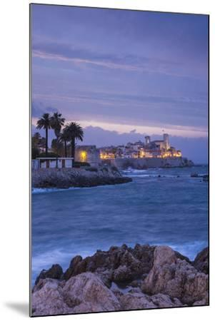 Old Town and Sea Wall in Antibes, Alpes-Maritimes, Provence-Alpes-Cote D'Azur-Jon Arnold-Mounted Photographic Print