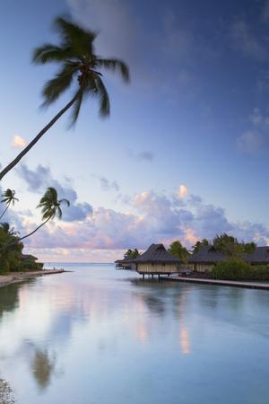 Overwater Bungalows of Intercontinental Mo'Orea Resort, Hauru Point, Moorea-Ian Trower-Framed Photographic Print