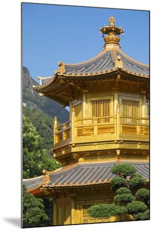 Pagoda in Nan Lian Garden at Chi Lin Nunnery, Diamond Hill, Kowloon, Hong Kong-Ian Trower-Mounted Photographic Print