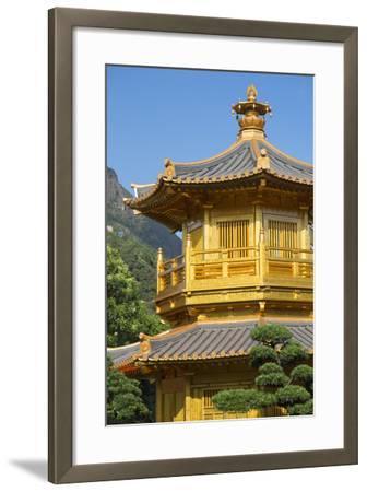 Pagoda in Nan Lian Garden at Chi Lin Nunnery, Diamond Hill, Kowloon, Hong Kong-Ian Trower-Framed Photographic Print
