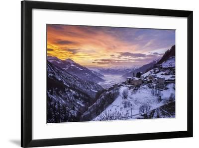 Valtellina, Campo Tartano Village, Lombardy, Italy-ClickAlps-Framed Photographic Print