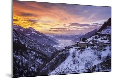 Valtellina, Campo Tartano Village, Lombardy, Italy-ClickAlps-Mounted Photographic Print