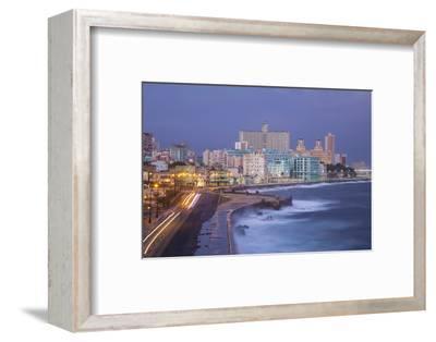 The Malecon Looking Towards Vedado, Havana, Cuba-Jon Arnold-Framed Photographic Print