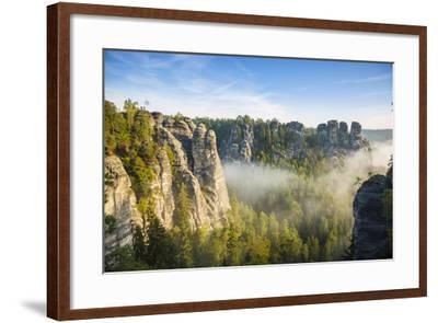 Bastei, Saxon Switzerland National Park, Saxony, Germany-Jon Arnold-Framed Photographic Print