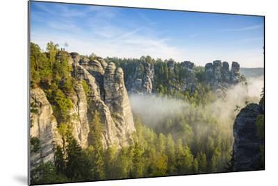 Bastei, Saxon Switzerland National Park, Saxony, Germany-Jon Arnold-Mounted Photographic Print