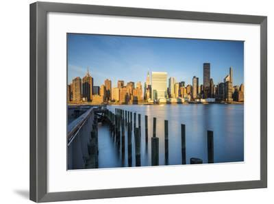 Chrysler and Un Buildings and Midtown Manhattan Skyline from Queens, New York City, New York, USA-Jon Arnold-Framed Photographic Print