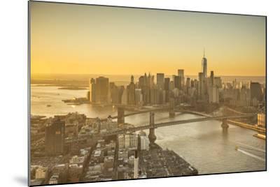One World Trade Center, Manhattan and Brooklyn Bridges, Manhattan, New York City, New York, USA-Jon Arnold-Mounted Photographic Print
