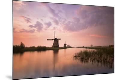 Kinderdijk, Netherlands the Windmills of Kinderdijk Resumed at Sunrise.-ClickAlps-Mounted Photographic Print