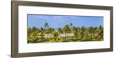 U.S.A, Miami, Miami Beach, South Beach, Ocean Drive, View over Lummus Park Towards South Beach-Jane Sweeney-Framed Photographic Print