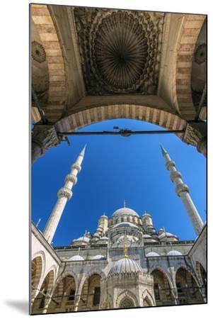 Inner Courtyard Low Angle View of Yeni Cami or New Mosque, Istanbul, Turkey-Stefano Politi Markovina-Mounted Photographic Print