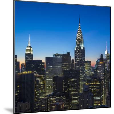 Chrysler Building and Empire State Building, Midtown Manhattan, New York City, New York, USA-Jon Arnold-Mounted Photographic Print