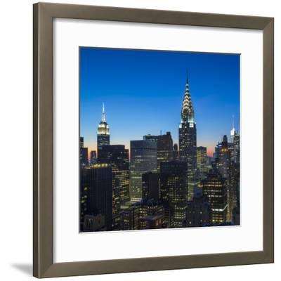 Chrysler Building and Empire State Building, Midtown Manhattan, New York City, New York, USA-Jon Arnold-Framed Photographic Print