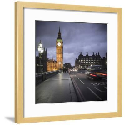 Big Ben, Houses of Parliament and Westminster Bridge, London, England-Jon Arnold-Framed Photographic Print