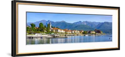 The Idyllic Lakeside Village of Baveno, Lake Maggiore, Piedmont, Italy-Doug Pearson-Framed Photographic Print