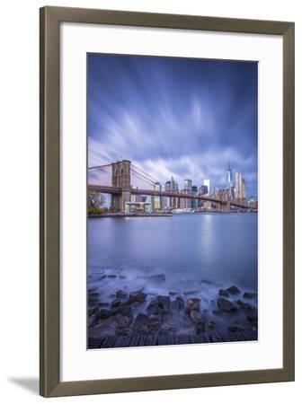 Brooklyn Bridge and Lower Manhattan/Downtown, New York City, New York, USA-Jon Arnold-Framed Photographic Print