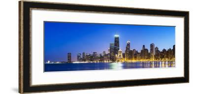 Usa, Illinois, Chicago. the City Skyline from North Avenue Beach.-Nick Ledger-Framed Photographic Print