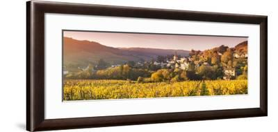 Pernand-Vergelesses and its Vineyards, Cote D'Or, Burgundy, France-Matteo Colombo-Framed Photographic Print