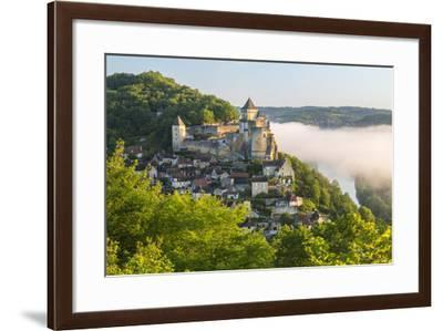 Early Morning Mist, Chateau De Castelnaud, Castelnaud, Dordogne, Aquitaine, France-Peter Adams-Framed Photographic Print