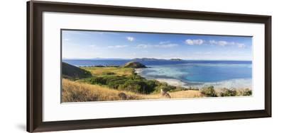 View of Mana Island, Mamanuca Islands, Fiji-Ian Trower-Framed Photographic Print