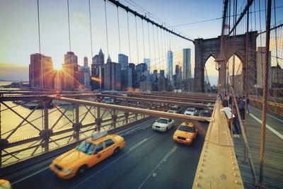 Usa, New York, New York City, Brooklyn Bridge-Michele Falzone-Framed Photographic Print