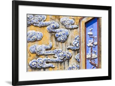 Vietnam, Hue, Hue Imperial City, Dien Tho Residence, Building Detail-Walter Bibikow-Framed Photographic Print