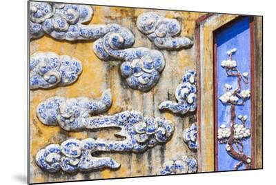 Vietnam, Hue, Hue Imperial City, Dien Tho Residence, Building Detail-Walter Bibikow-Mounted Photographic Print