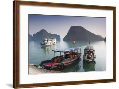 Vietnam, Halong Bay, Tito Island, Water Taxis-Walter Bibikow-Framed Photographic Print