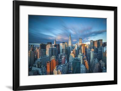 Chrysler Building and Empire State Building, Midtown Manhattan, New York City, New York, USA-Jon Arnold-Framed Photographic Print