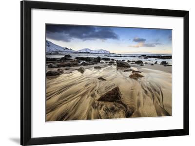 Sunset at Skagsanden Beach, Lofoten, Norway-ClickAlps-Framed Photographic Print