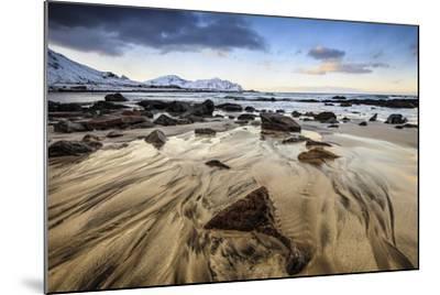 Sunset at Skagsanden Beach, Lofoten, Norway-ClickAlps-Mounted Photographic Print