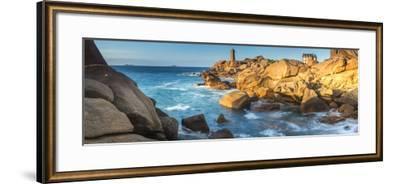 Ploumanach Lighthouse, Cote De Granit Rose, Cotes D'Amor, Brittany, France-Peter Adams-Framed Photographic Print