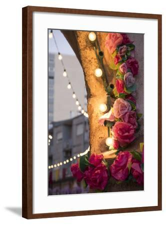Portugal, Tomar, Santarem District. Colorfully Decorated Streets During the Trays Festival-Emily Wilson-Framed Photographic Print