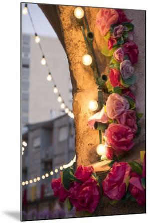 Portugal, Tomar, Santarem District. Colorfully Decorated Streets During the Trays Festival-Emily Wilson-Mounted Photographic Print