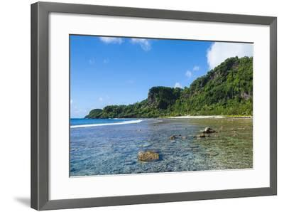 Bay and Turquoise Water in Tau Island, Manu'A, American Samoa, South Pacific-Michael Runkel-Framed Photographic Print