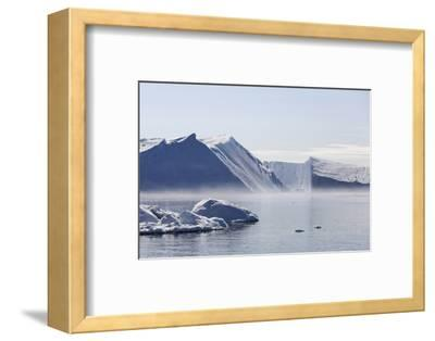 Greenland, Ilulissat Icefjord, Tabular Icebergs and Sea Water-Aliscia Young-Framed Photographic Print