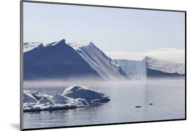 Greenland, Ilulissat Icefjord, Tabular Icebergs and Sea Water-Aliscia Young-Mounted Photographic Print