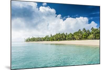 Palm Fringed White Sand Beach in Ha'Apai, Ha'Apai Islands, Tonga, South Pacific-Michael Runkel-Mounted Photographic Print