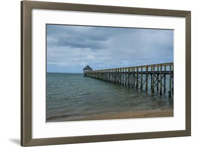 Long Wooden Pier, Coral Coast, Viti Levu, Fiji, South Pacific-Michael Runkel-Framed Photographic Print