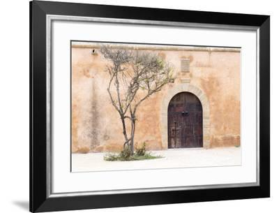 Morocco, Marrakech. Doorway Set into a Beige Way-Emily Wilson-Framed Photographic Print