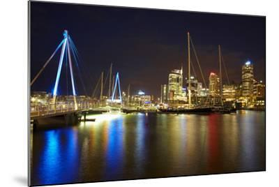 Wynyard Crossing Bridge and Cbd, Auckland Waterfront, North Island, New Zealand-David Wall-Mounted Photographic Print