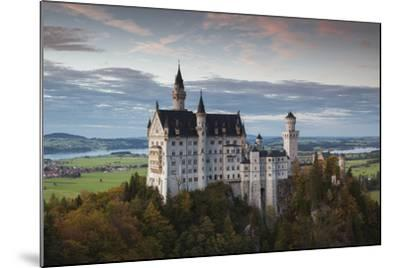 Germany, Bavaria, Hohenschwangau, Castle, Marienbrucke Bridge View, Dusk-Walter Bibikow-Mounted Photographic Print