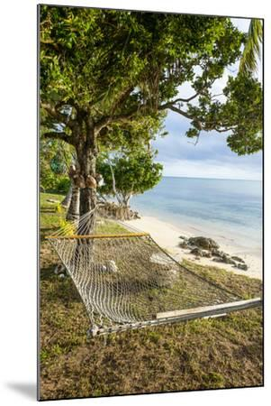 Hammock on a Beach in Ha'Apai, Tonga, South Pacific-Michael Runkel-Mounted Photographic Print