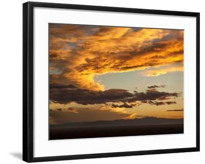 USA, Colorado, San Juan Mountains. Sunset across the San Luis Valley-Ann Collins-Framed Photographic Print