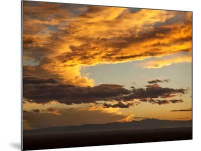 USA, Colorado, San Juan Mountains. Sunset across the San Luis Valley-Ann Collins-Mounted Photographic Print