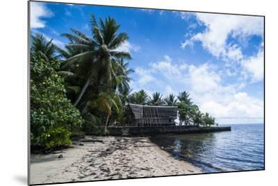 Traditional Thatched Roof Hut, Yap Island, Micronesia-Michael Runkel-Mounted Photographic Print