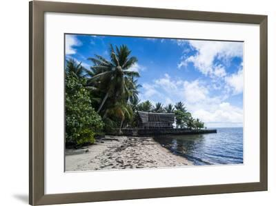 Traditional Thatched Roof Hut, Yap Island, Micronesia-Michael Runkel-Framed Photographic Print