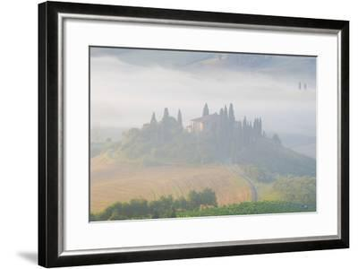 Italy, Tuscany. Belvedere House in Morning Fog-Jaynes Gallery-Framed Photographic Print