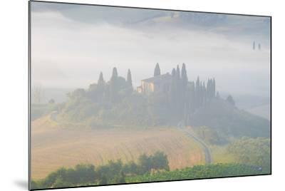 Italy, Tuscany. Belvedere House in Morning Fog-Jaynes Gallery-Mounted Photographic Print
