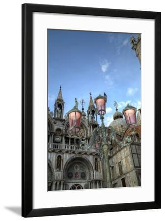 St. Marks and Lamp Post, Venice, Italy-Darrell Gulin-Framed Photographic Print